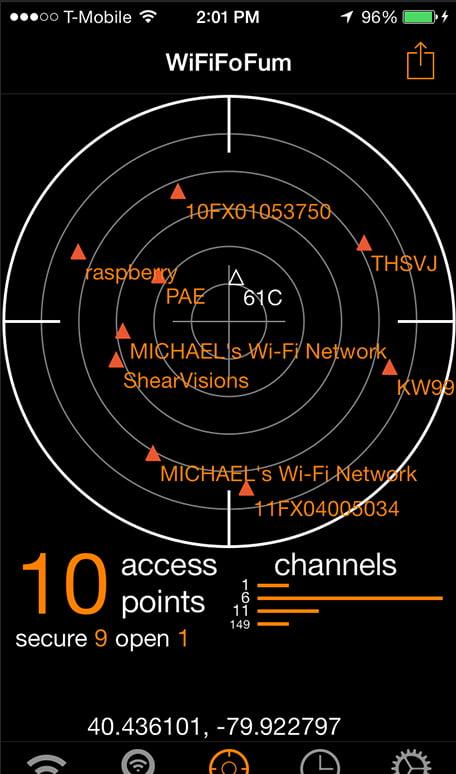 WiFiFoFum screen cortex