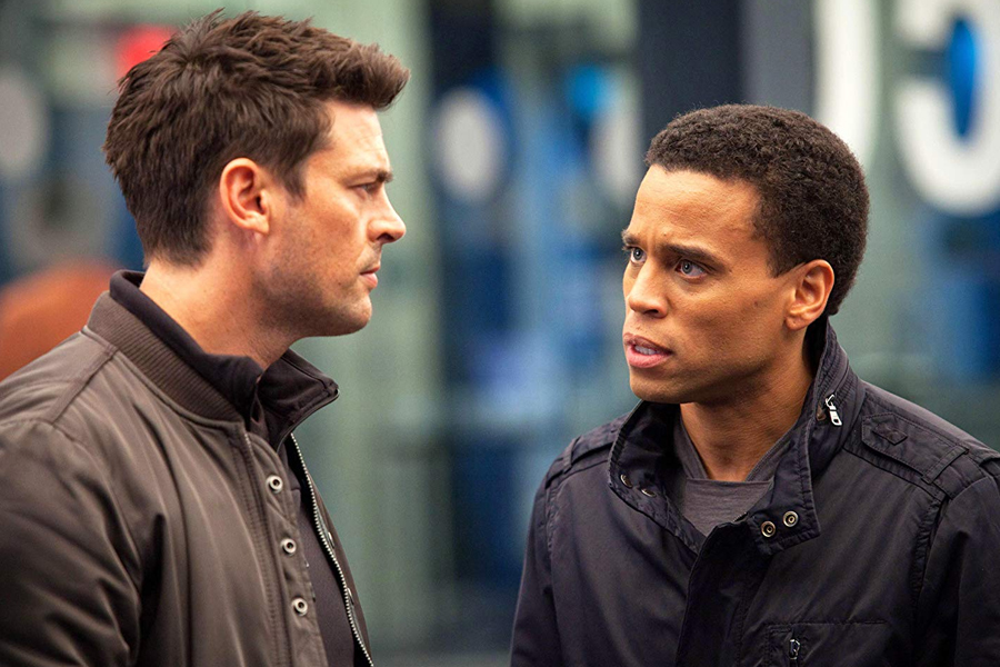 Karl Urban and Michael Ealy in Almost Human