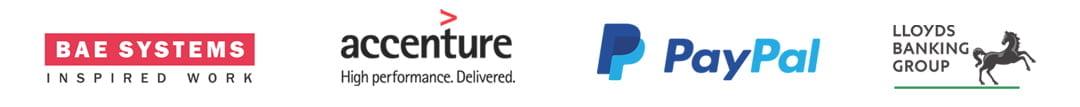 Cortex BAE, Accenture, Paypal, Lloyds Bank Logo